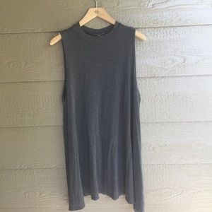 Vibe jersey grey Swingy casual dress